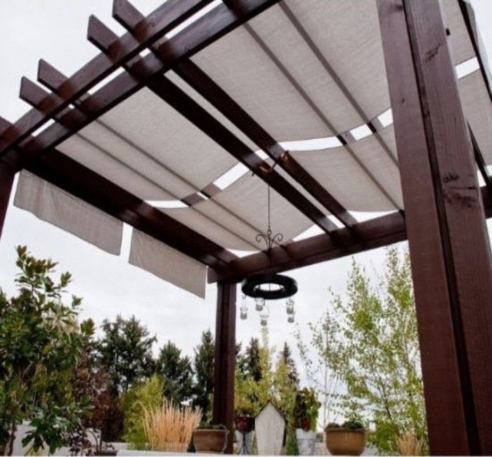 Fabric Deck Covering : Pergola and patio covers freestanding but protected