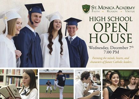 St. Monica Academy's High School Open House This Wednesday