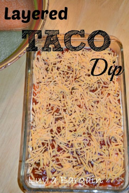This Layered Taco Dip Recipe is a favorite appetizer every time.   <strong> Layered Taco Dip </strong> This is another all time favorite to take to a get together. My sister in law was the first to introduce me to it years and years ago. But I just made it this week on our big family vacation in Sanibel Island, Florida and thought I would re-post it again for everyone. You can make it your own with lots of additio...