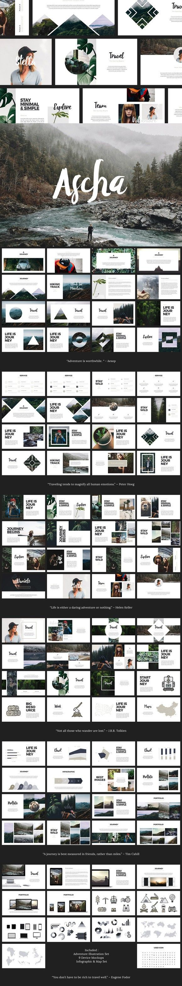 ASCHA - Powerpoint Template. Presentation Templates. $16.00