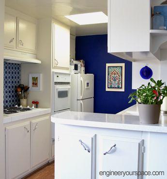 17 best images about rental home decorating on pinterest for Galley kitchen backsplash ideas
