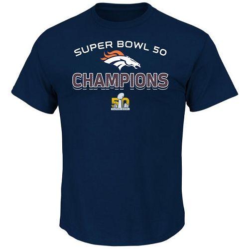 NFL Denver Broncos Majestic Super Bowl 50 Champions Beyond Victory T-Shirt - Navy