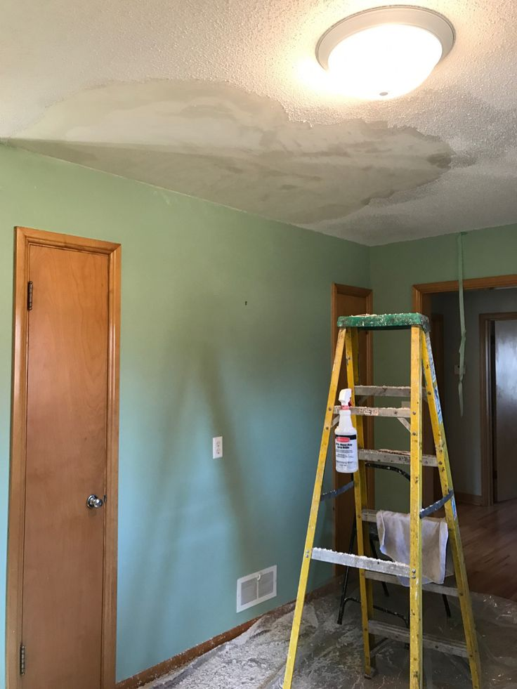 Removing Popcorn Texture from Ceilings DIY | Style and the Suburbs