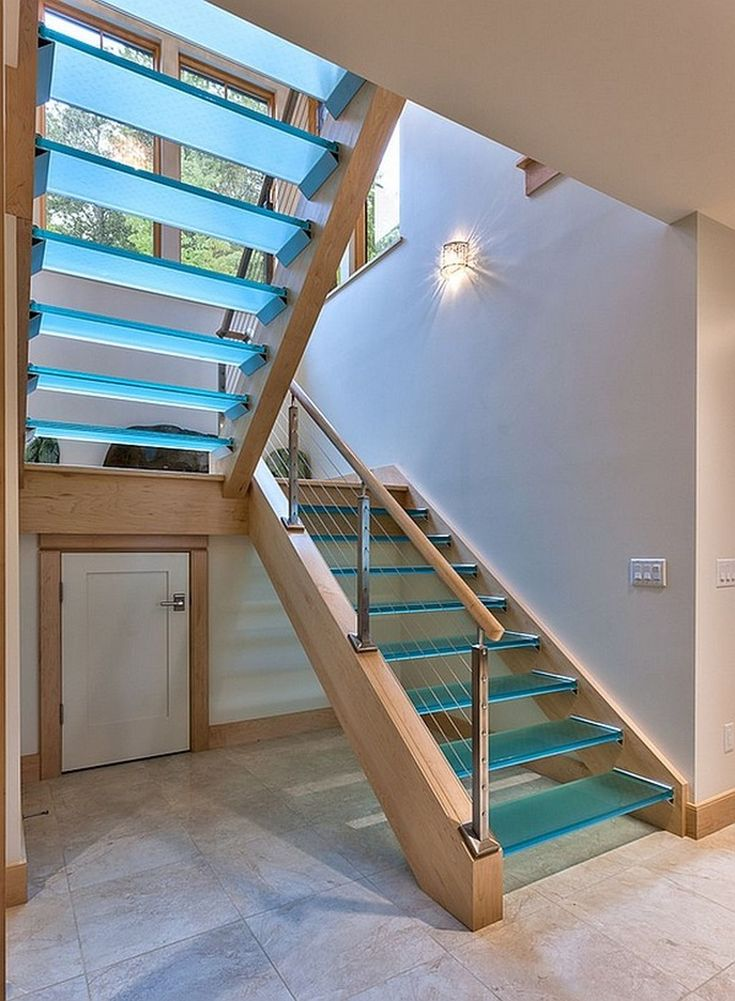 Cool 36 Cool Glass Staircase Designs Ideas. More at http://dailypatio.com/2017/12/10/36-cool-glass-staircase-designs-ideas/
