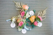 color combo: neutrals + peach, coral, pink, aqua: Beautiful Boutonnieres, Wedding Boutonnieres, Wedding Ideas, Weddings, Wedding Flowers, Boutonnieres Photography