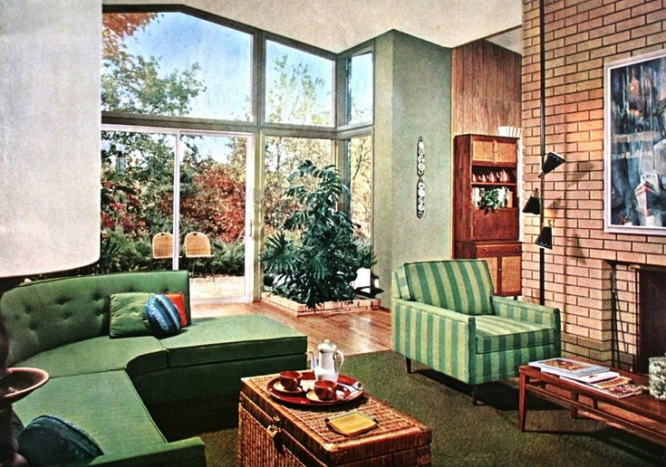 Better Homes And Gardens September 1961 Mid Century Modern Interior Design Pinterest