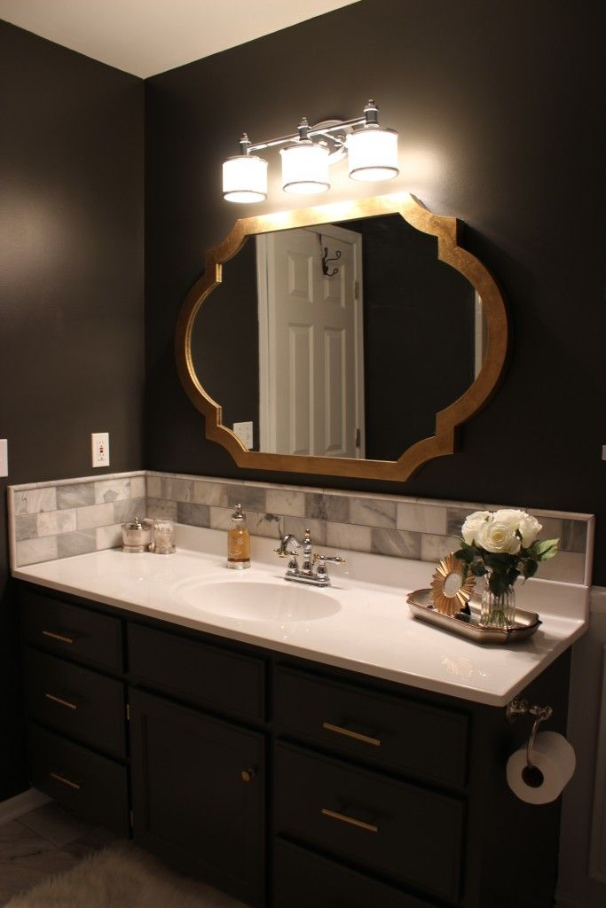 Dark Gray Bathroom Vanity
