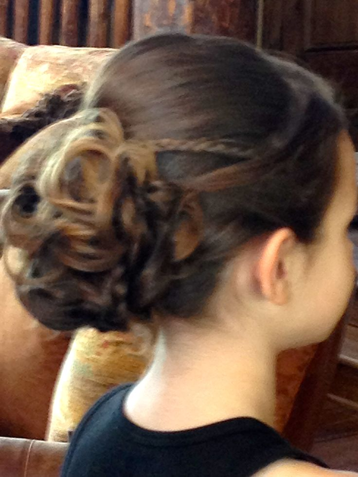 Wedding Updo Flower Girl Hairstyle Bridal Wedding Party