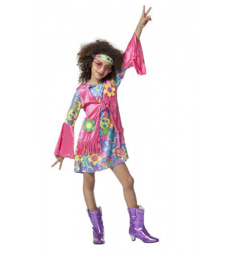 Hippie Meisje Love And Peace Kostuum