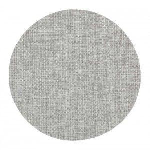 Tablett Sixten rund grå