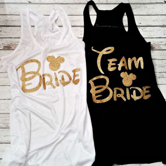 Team Bride Disney Minnie MouseBride Tribe by NTYSApparel on Etsy