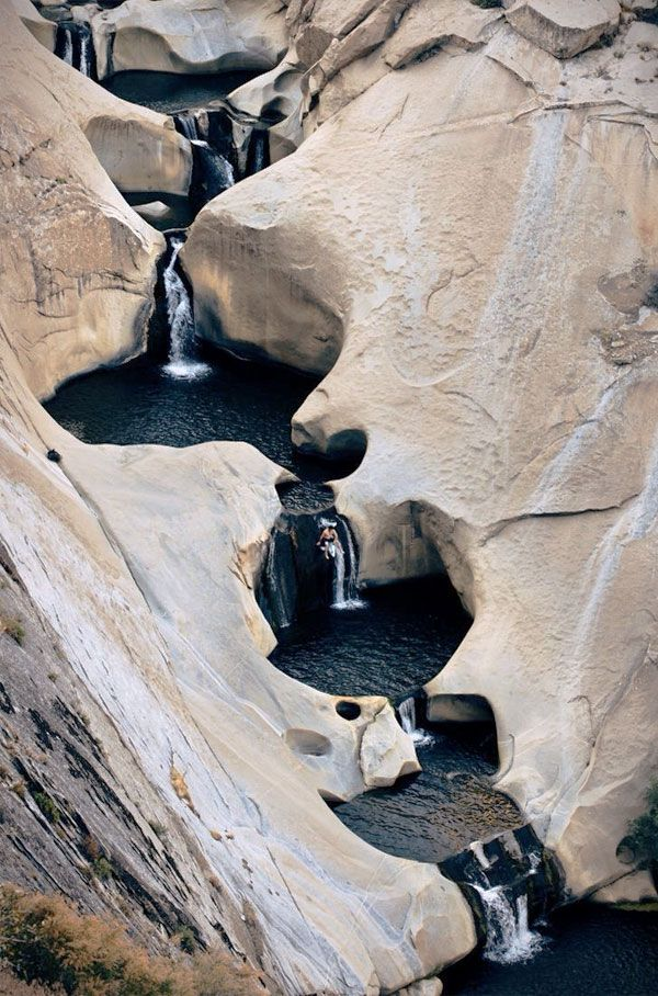 Seven Tea Cup waterfalls because you never knew they existed before today and now they're like, one of the coolest natural wonders you've ever seen?? Does anyone else know how to get to Johnsondale, CA?!