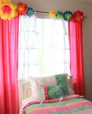 how to make paper flower curtain