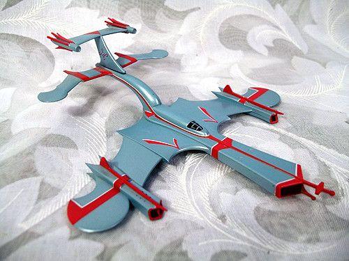 Sold ULTRAMAN TARO SKYWHALE Jet Fighter Mini Figure (c) 1973 Tsuburaya