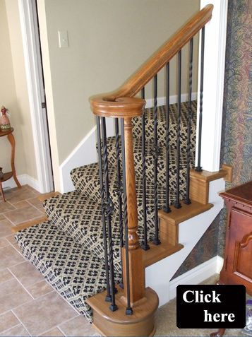 Iron Spindle Replacement Olathe And Wood Stair Treads End Caps Great Site With Before After Pictures Home Pinterest Stairs