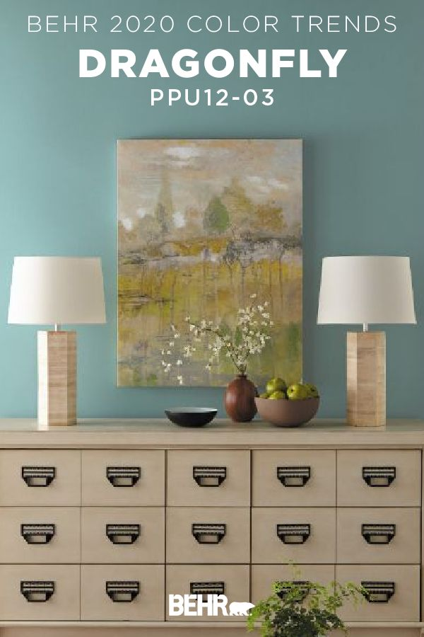 Loving This Bright Wall Color Courtesy Dragonfly From The New Behr Trends