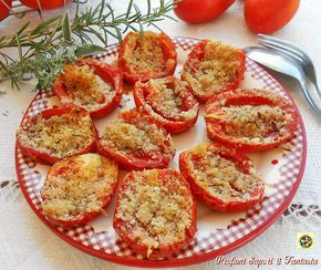 I pomodori al forno semplici e saporiti oltre ad essere un contorno facile da preparare si accompagnano ad ogni pietanza di carne,di pesce e non solo.
