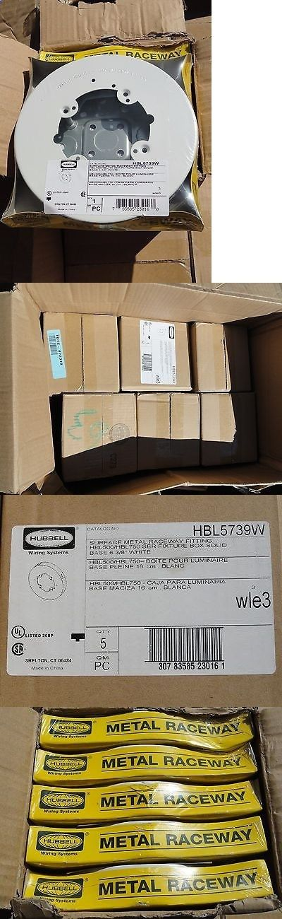 Other Consumer Electronic Lots: New-Hubbell-Case Of 6X5pcs=30 -Hbl5739w-Wle3-Surface Metal Raceway Fitting-White BUY IT NOW ONLY: $450.0