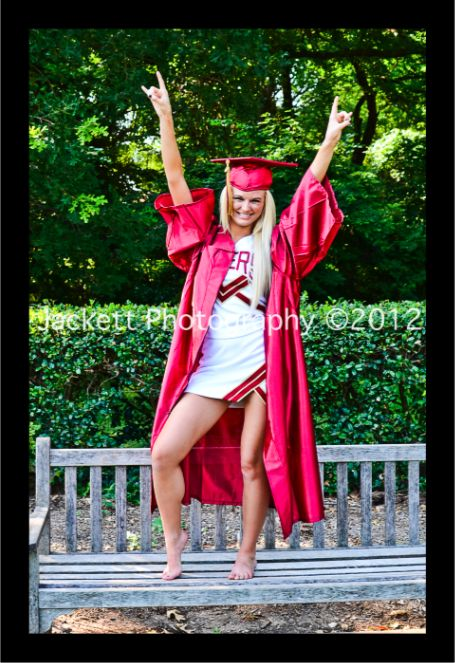 Fun Senior / Cheerleader / Graduation for photo shoot. Botanical Gardens, Fort Worth, TX