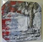 Schilderij 3D abstract olifant