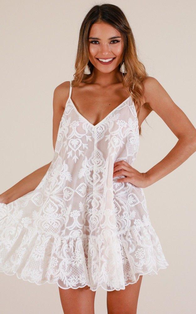 bb0e575e0ad0 Lush Lover Dress In White Lace in 2019 | F a s h I o n | Dresses, White  short dress graduation, Lover dress