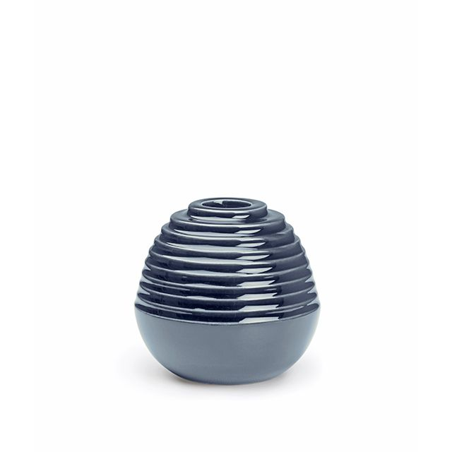 Dusty Blue Candlestick, small