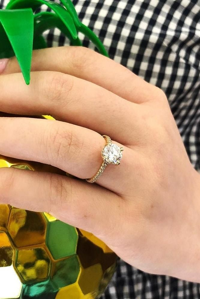 27 The Best Yellow Gold Engagement Rings From Pinterest Titanium