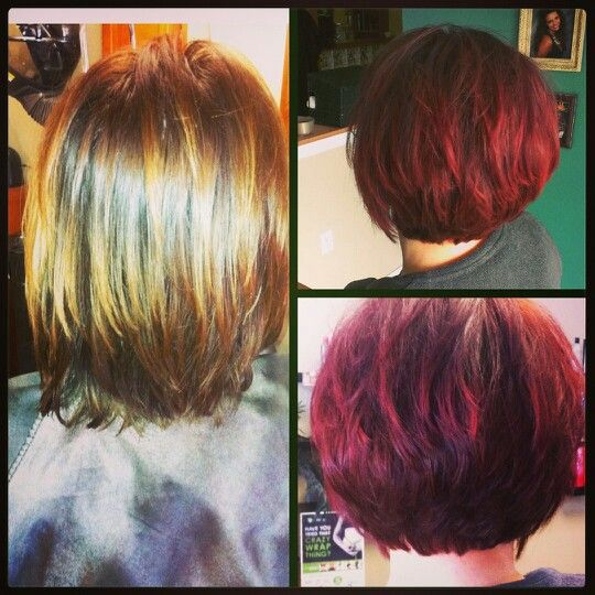 Before and after pravana hair color hair created by amy for Absolutely you salon
