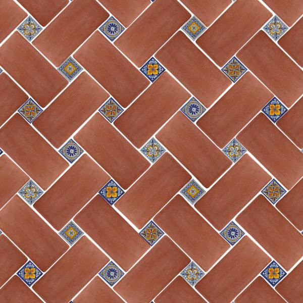 11 best images about 6x12 tile floor patterns on for Spanish style floor tiles