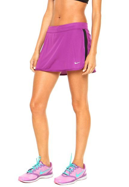 Short-Saia Nike Racer Knit Roxo - Marca Nike