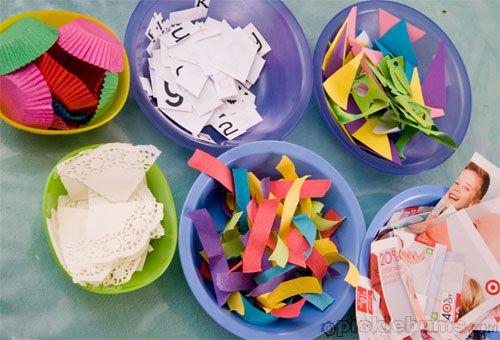 Kids Hoarding Materials In Art Class