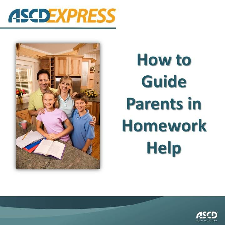 Homework help resources for parents