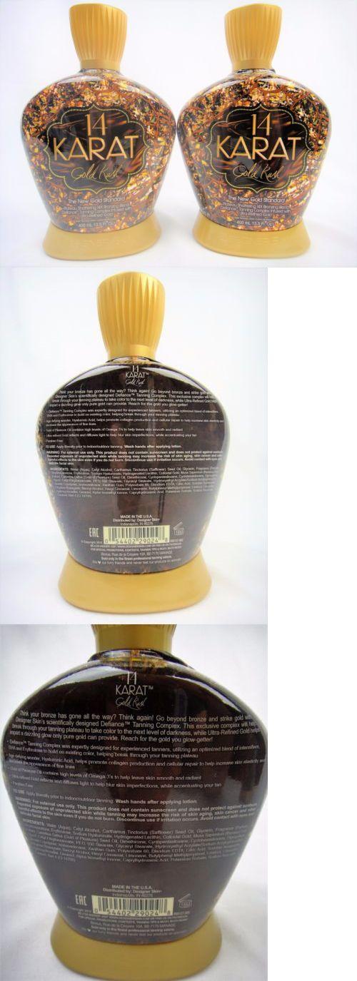 Tanning Lotion: Lot Of 2 Designer Skin 14 Karat Gold Rush Tanning Bed Lotion 13.5 Oz Bottles -> BUY IT NOW ONLY: $59.99 on eBay!