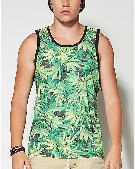 Sublimated Pot Mens Tank Top - Spencer's