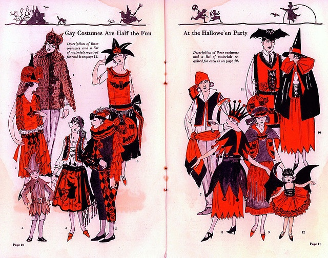 Gay Costumes are half the fun at the Halloween Party 1923