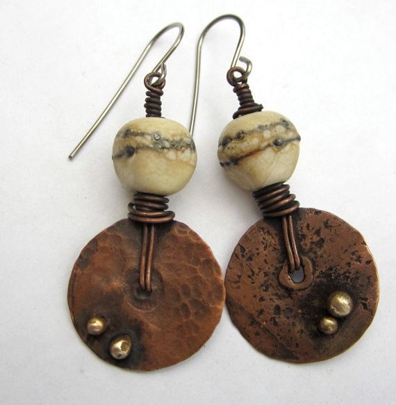 Reserved..Melting Point. artisan earrings rustic by beatnheart
