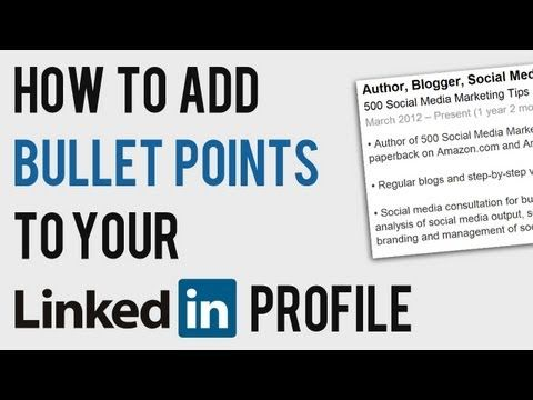 Best 25 formatting codes ideas on pinterest raspberry uses how to add bullet points to linkedin profile linkedin text formatting code youtube fandeluxe Images