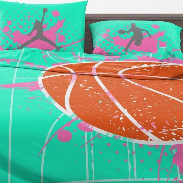 Girls Basketball Bedding  – Aubrey's room
