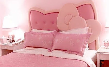 Cabeceras de cama de hello kitty dormitorios para ni as - Camas para ninas ...