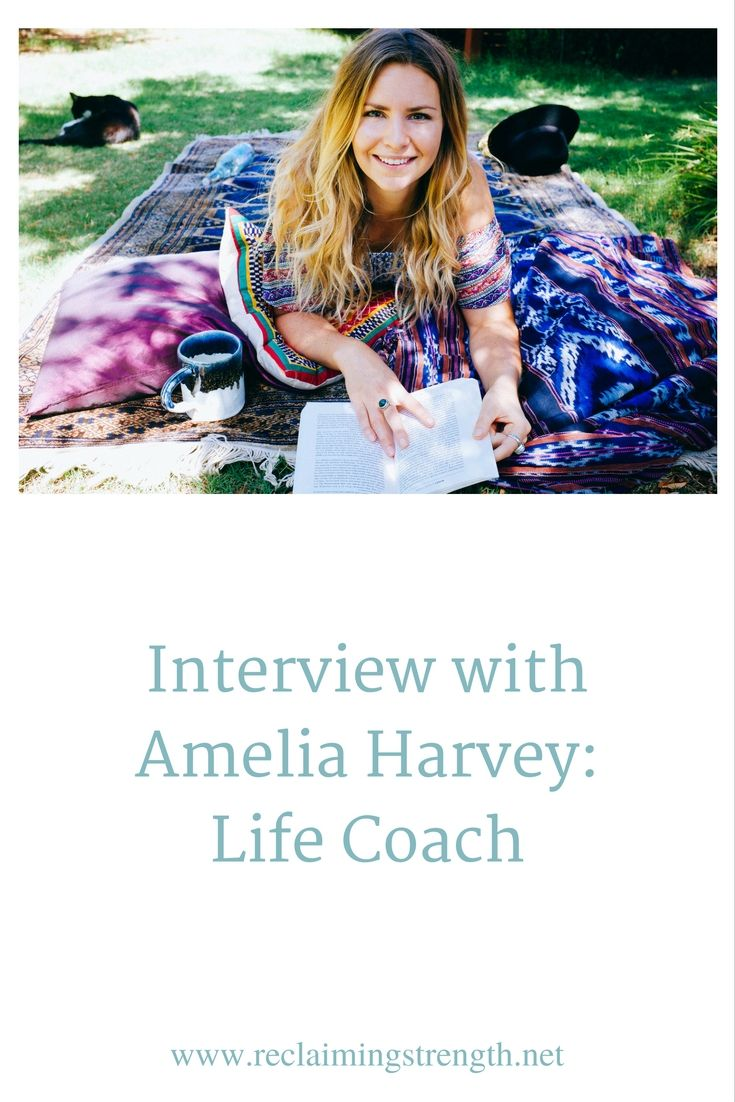 Click through to read my full interview with Amelia Harvey, Life Coach.