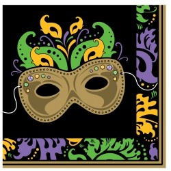Mardi Gras/Fat Tuesday Themed Plates, Napkins, and Cups. More at CardsShoppe