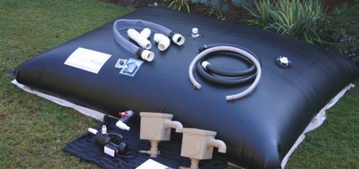 Citerne souple pour la récupération de l'eau de pluieCiterne souple pour la récupération de l'eau de pluie