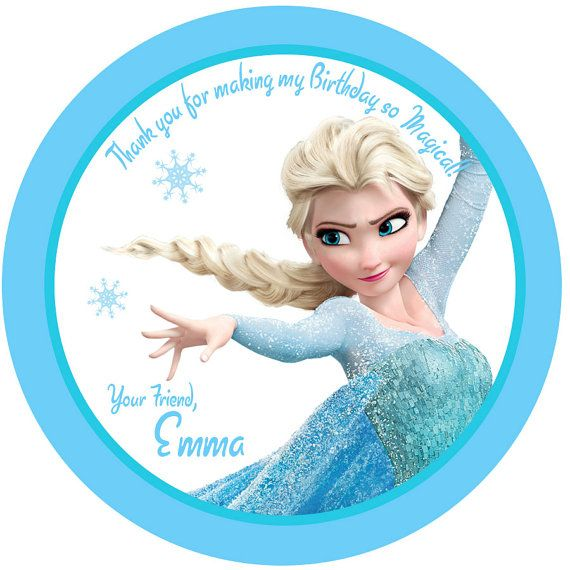 Personalized stickers frozen elsa birthday girl personalized labels size 2 25