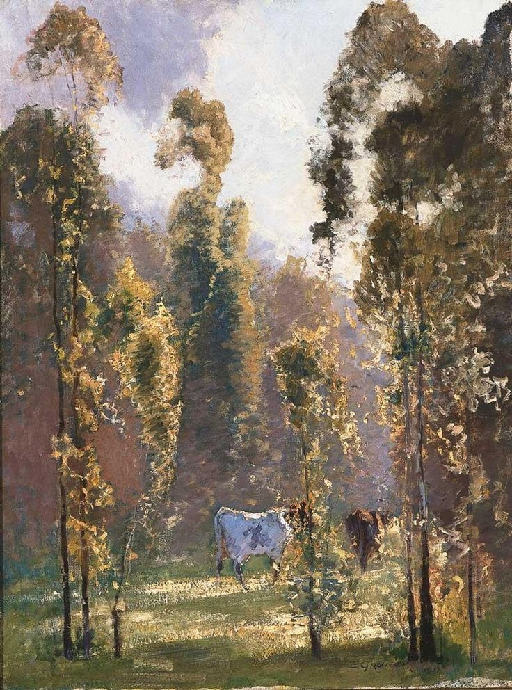 ELIOTH GRUNER 1882-1939 IN MORNING SUNLIGHT, RICHMOND, NEW SOUTH WALES