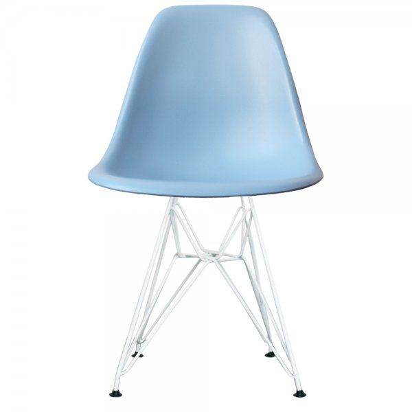 Buy Eames Style Eiffel Light Blue Plastic Side Chair at Fusion Living
