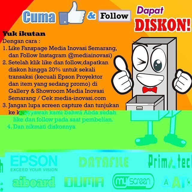 """Jangan lupa ikuti kuis Media Inovasi Semarang """"cuma like dan follow dapat diskon"""". Ini dia caranya.... gampang kok. #meja #kursi #lemari #computer #kantor #peralatankantor #mediainovasisemarang"""