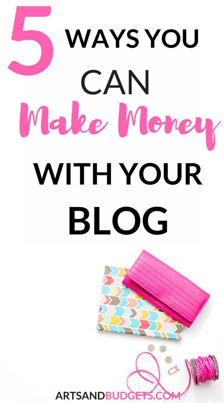 Are you looking for ways to make extra money with your blog?  In this post, I share 5 ways to start making passive money with your BLOG! - Side hustle, make money blogging, blogging, passive income, how to start a blog, make extra money