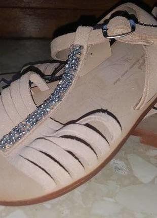 skórzane buty dziewczęce dla dziewczynki ZARA 26 brązowe eleganckie