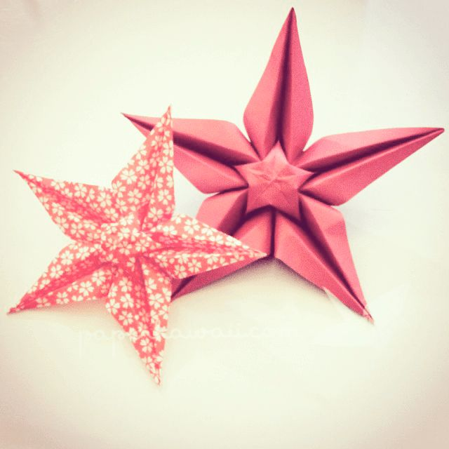 Learn how to make this beautiful origami star flower, diagram and video tutorial! Perfect as a gift or to make a cute bunch of flowers!