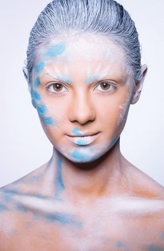 #creamy #blue #lipstick #power  Published in @ Make-Up Magazine Romania #3-4/14 (09-10) - 6 steps & cover  MUA: Diana Enaiche Photo: Bogdan Dancu Model: Madalina Sinoae